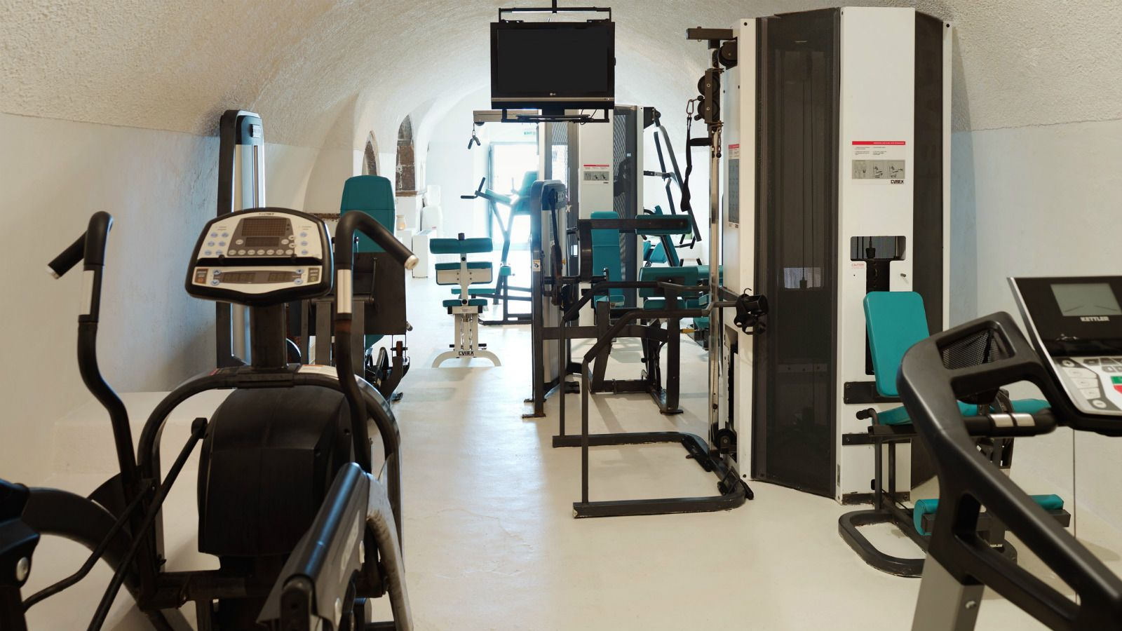 Fitness Center Gym at Vedema Hotel Santorini
