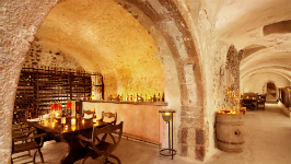 Canava Wine Bar located in a 400 years old winery - Vedema Resort Santorini